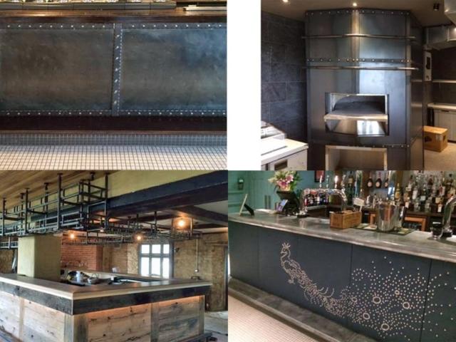 bar frontages, racking and pizza oven by BS Steels