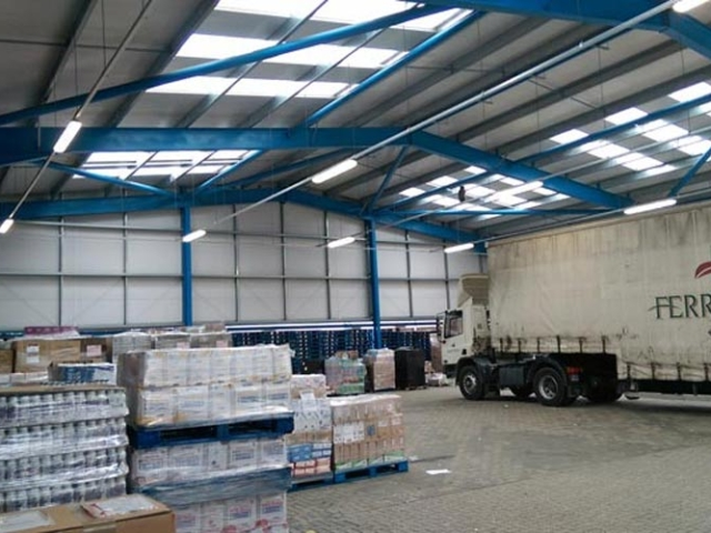 warehouse interior installed by BS Steels Ferryspeed Jersey