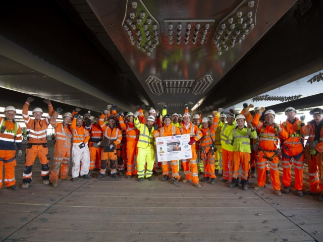 bs steels project partners gade valley viaduct topping out ceremony