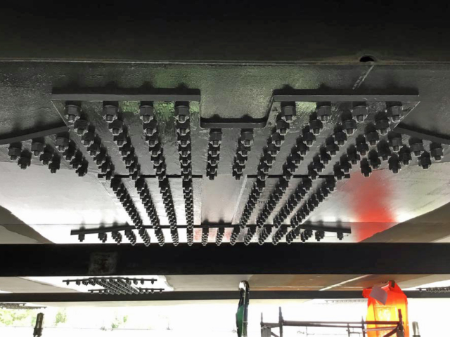 stiffener plates designed manufactured and installed by BS Steels M25 Gade Valley Viaduct