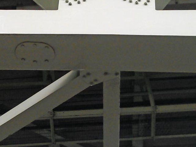 detail of underside of M4 Boston Manor motorway viaduct