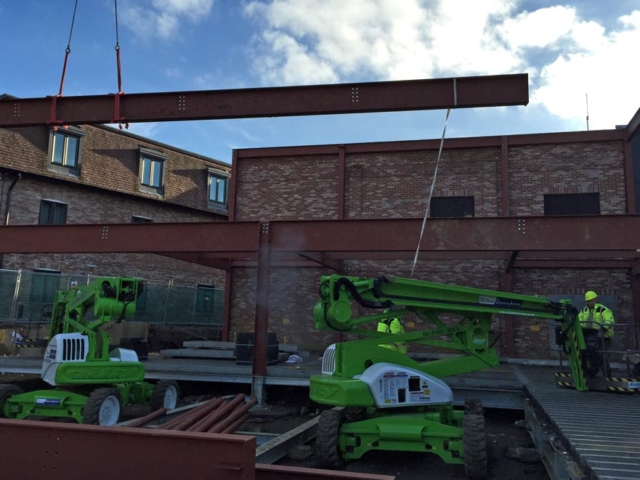 lifting beam into place old thorns manor hotel liphook