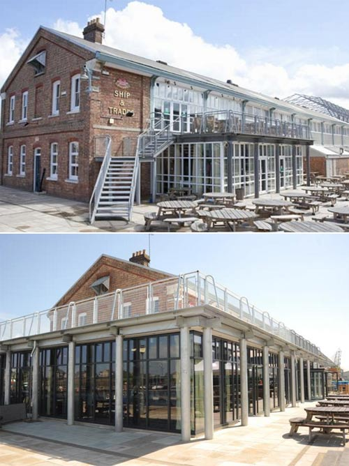 ship and trades chatham before and after refurbishment