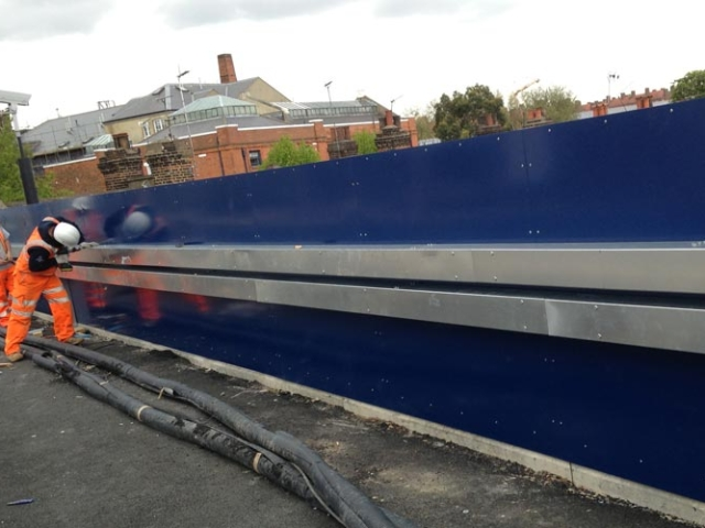 new parapet marcon place railway bridge designed fabricated and installed by bs steels