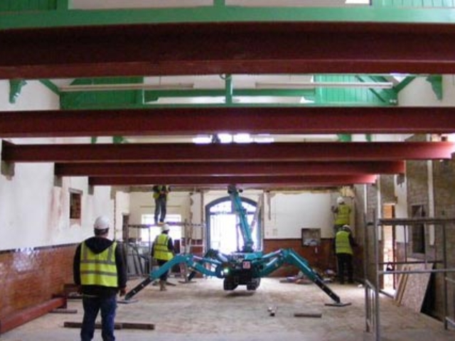 steel beams to allow new first floor portsmouth central mosque