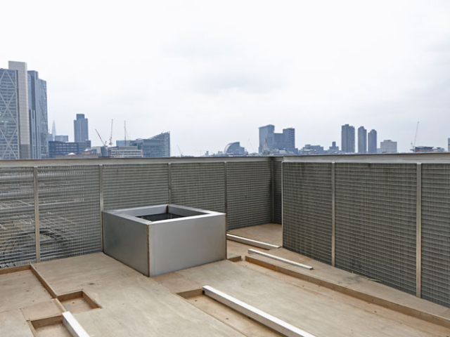 stainless steel planter balustrade and mesh panels by be steels shoreditch londonnd and