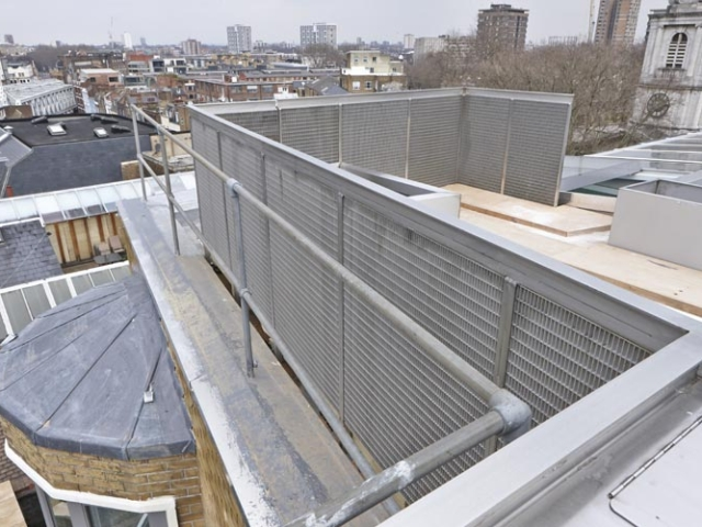 rooftop stainless steel balustrade by bs steels shoreditch london