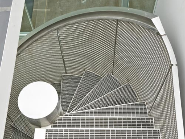 stainless steel spiral staircase by bs steels top view