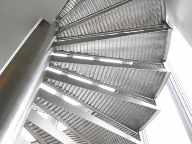 stainless steel staircase underside shoreditch london