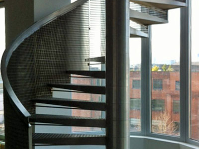 stainless steel staircase by bs steels shoreditch london
