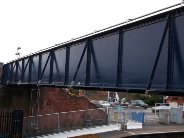 wareham railway station pedestrian overbridge renovated by BS Steels