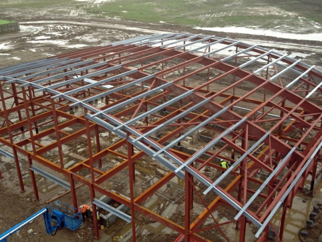 steel roof structure north kent community church