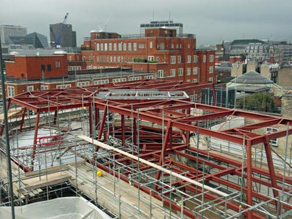 BS Steels provided steel and services for refurbishment of 67 Tufton Street in London W1