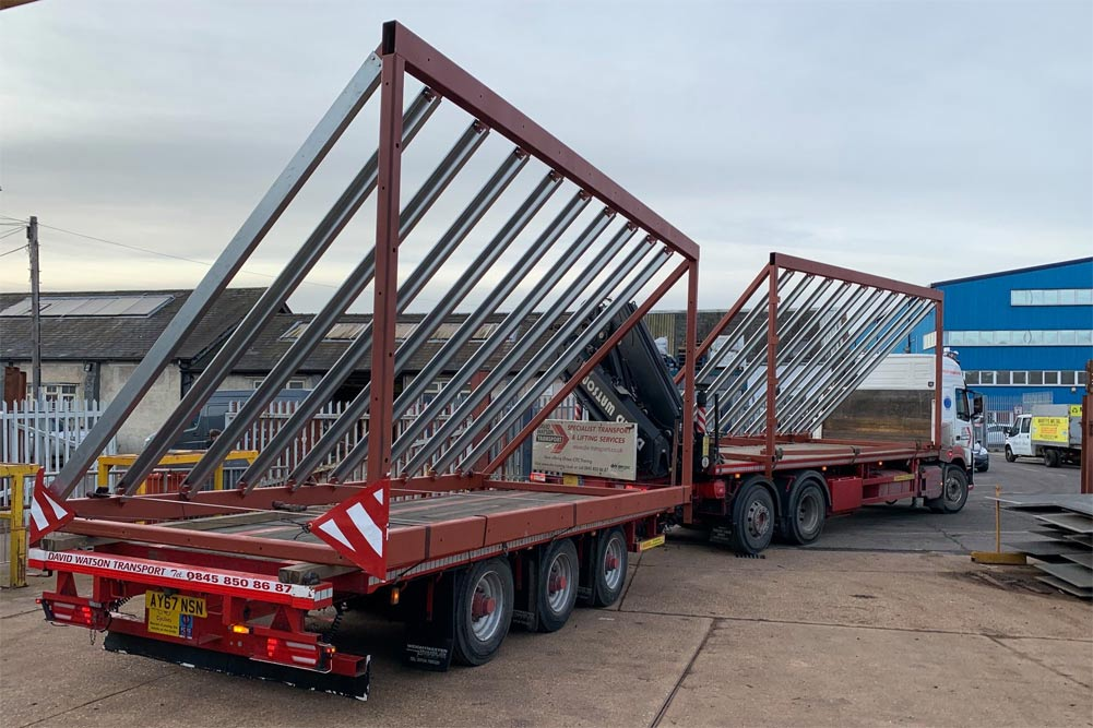 Roof sections (quadrants) fabricated in BSSteels workshop en-route to site.