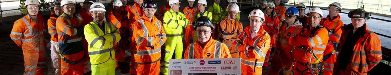 topping out ceremony M25 Gade Valley viaduct