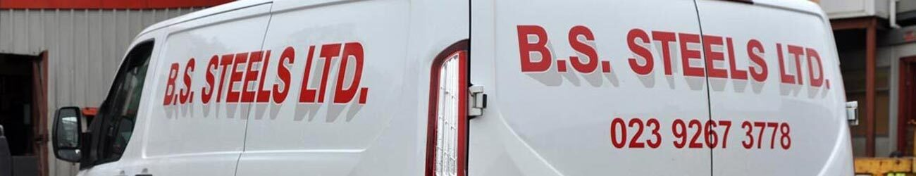 BS Steels delivery van making timely deliveries to builders across Southern England