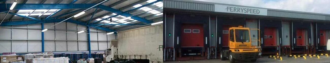 warehousing canopies and loading bays created by BS Steels