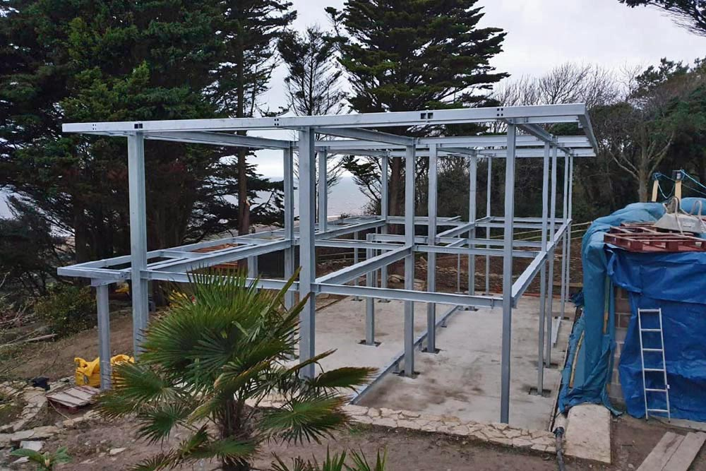 steel frame for entire new build house