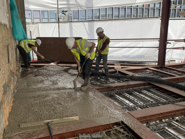 laying concrete floors 66-74 notting hill gate