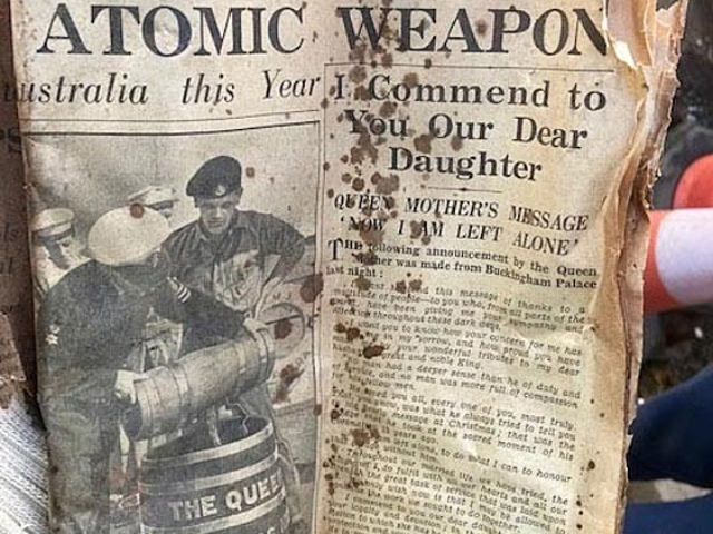 daily mail 18 feb 1953 found in basement 66-74 notting hill gate