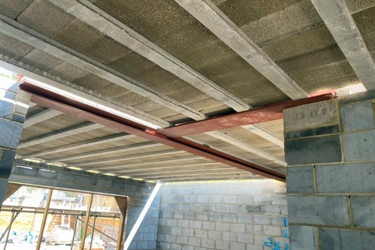 supporting steel and beam block flooring supplied and installed by BS Steels